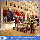 OEM Service wooden lacquer Youth Clothing Stores display furnitures with led lighting decorated proveedor